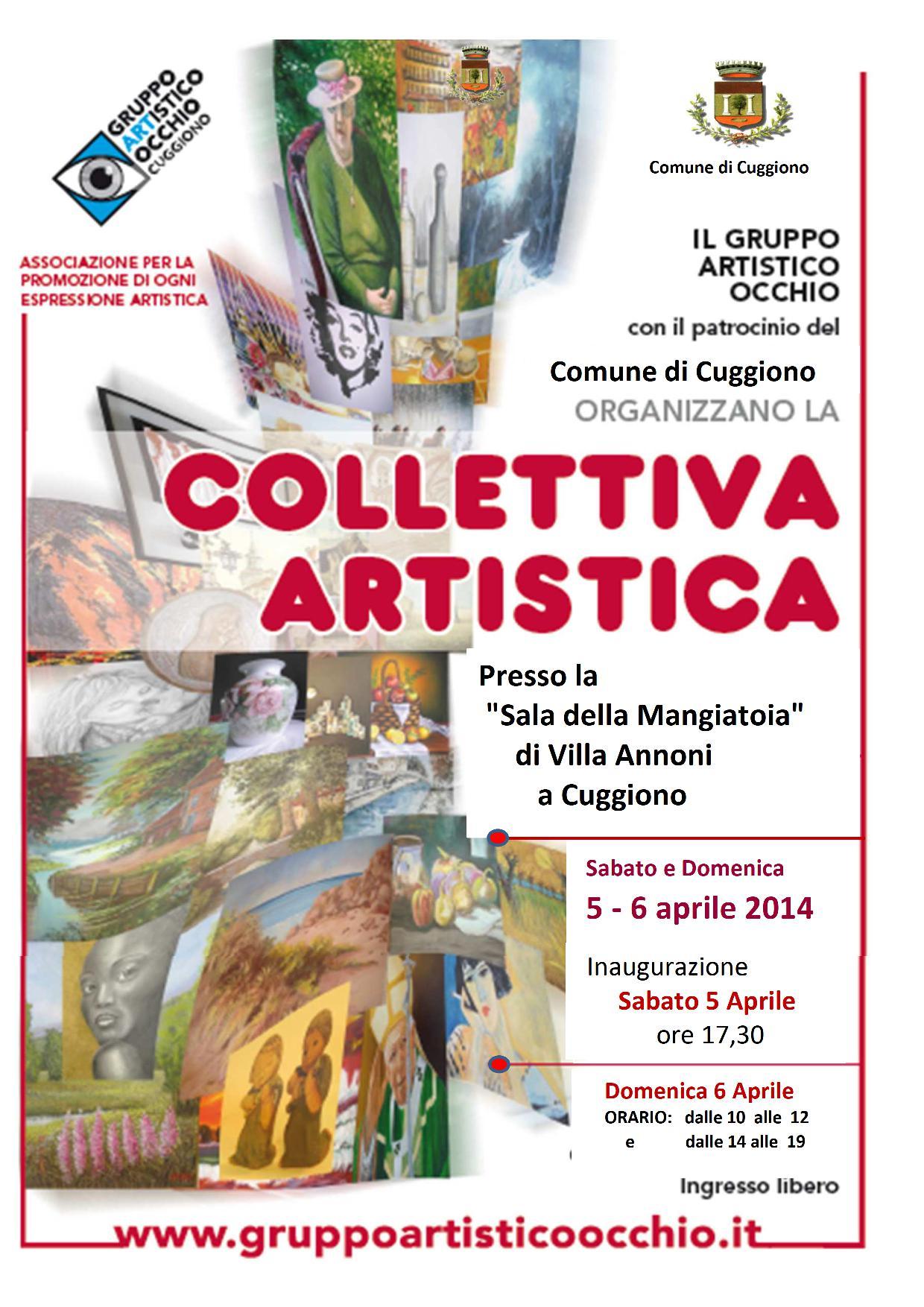 anno 2014 Cuggiono - Mostra Collettiva del Gruppo Artistico Occhio - 5 e 6 Aprile 2014.