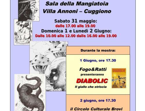 Anno 2014 Mostra personale di Stefano Ratti, Disegni, tavole a fumetti e oltre.., dal 31 maggio al 2 giungo 2014, presso la sala della mangiatoia di Villa Annoni a Cuggiono.