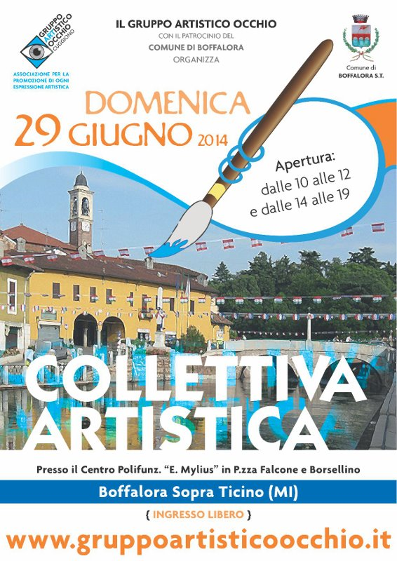 """anno 2014 Mostra Collettiva presso il Centro Polifunzionale """"E. Mylius"""" di Boffalora sopra Ticino del 29 Giugno 2014."""