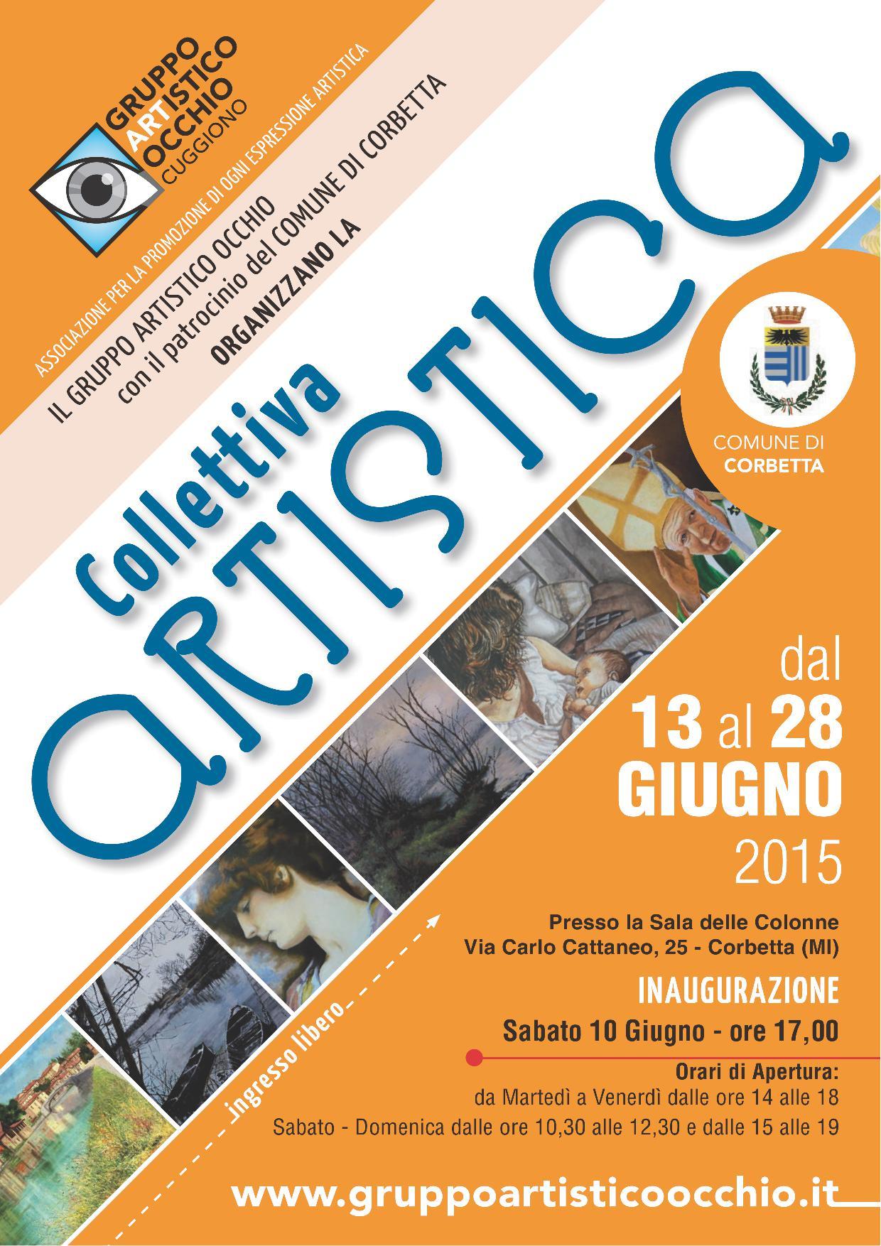 anno 2015 13 - 28 Giugno 2015 - Mostra Collettiva presso Sala Delle Colonne a Corbetta.