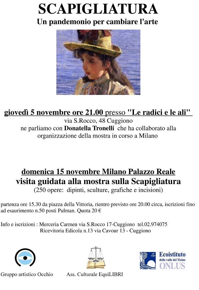 Visita guidata alla Mostra sulla Scapigliature Milano Palazzo Reale - 15 novembre 2009