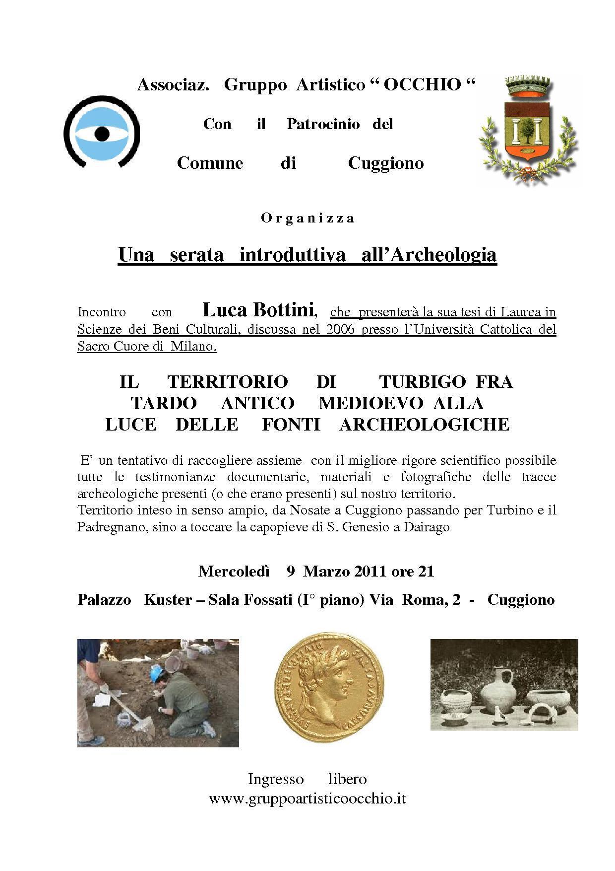 Una serata introduttiva all' Archeologia - 9 Marzo 2011