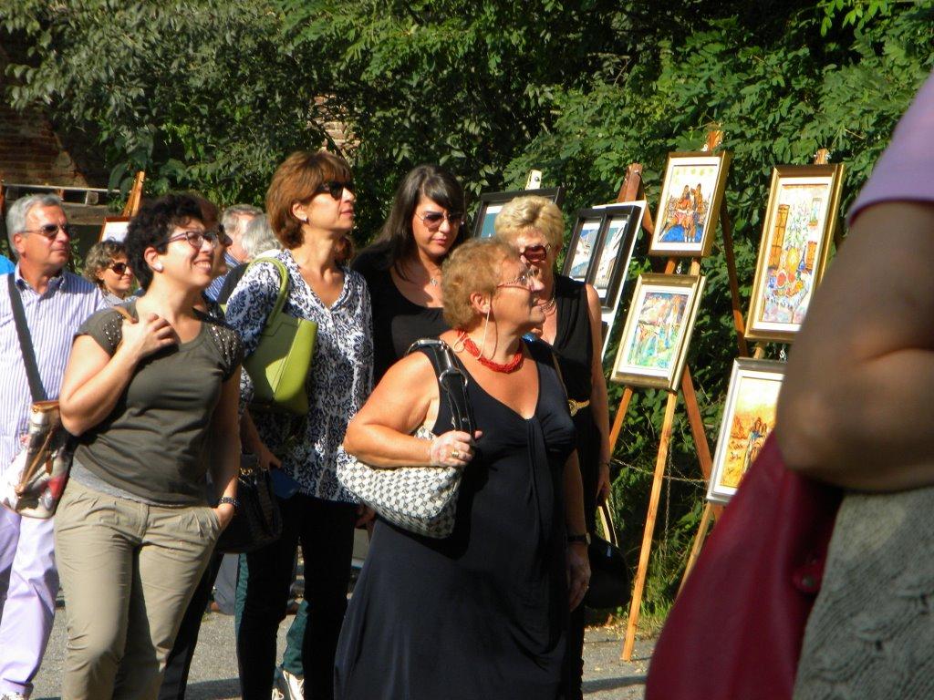 anno 2014 XIX Rassegna ARTE SUL NAVIGLIO, 21 Settembre 2014, presso Alzaia Naviglio Grande a Castelletto di Cuggiono.