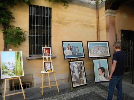 anno 2015 10 Maggio 2015 - VIII^ Rassegna ARTE IN CORTE presso Palazzo Clerici a Cuggiono.