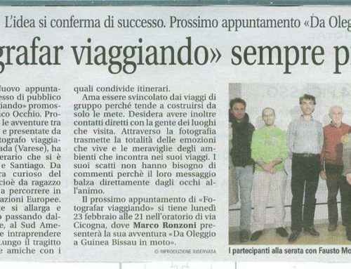 ARTICOLO APPARSO SUL Settimanale SETTEGIORNI/Altomilanese. del 20 Febbraio 2015.