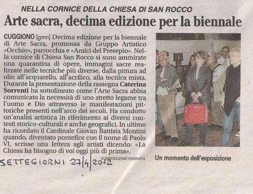 ARTICOLO SU SETTEGIORNI del 27 Aprile 2012