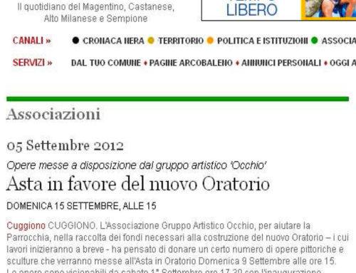 ARTICOLO APPARSO SU CITTA' OGGI del mese di settembre 2012