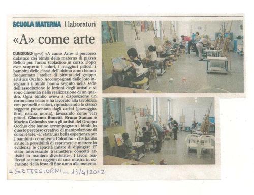 ARTICOLO SU SETTEGIORNI del 13 Aprile 2012